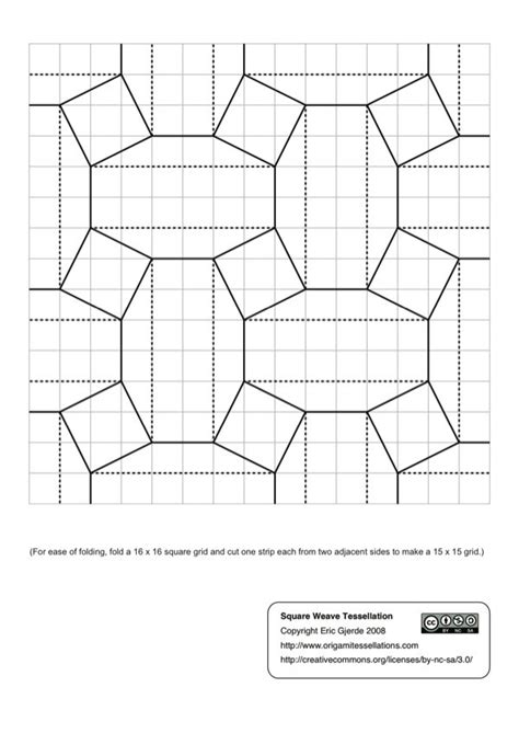 Origami Tessellation Diagrams - may 2012 origami tessellations