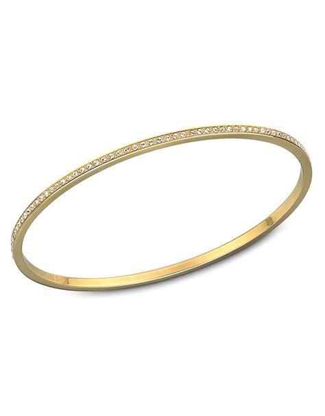 Swarovski Ready Goldplated Crystal Bangle Bracelet in Gold (no color)   Lyst