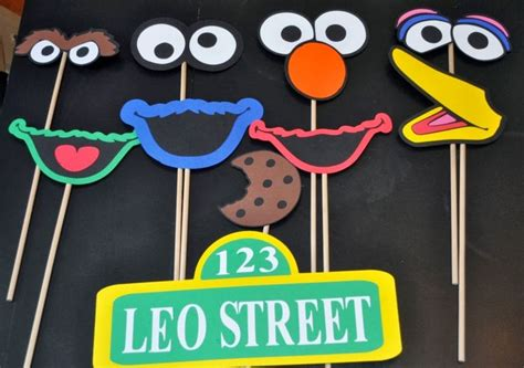 elmo photo booth props printable r r creations sesame street photo booth props diy