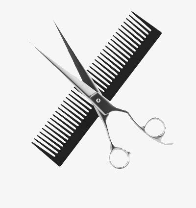 Hairstyle Tools Designs by Tools Hairdresser Comb Scissors Hairstyle Png Image And