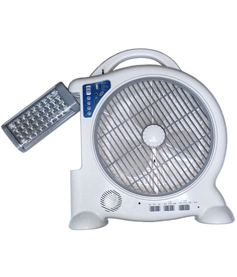 Lu Led Emergency Usb tuscan rechargeable table fan with adjustable emergency