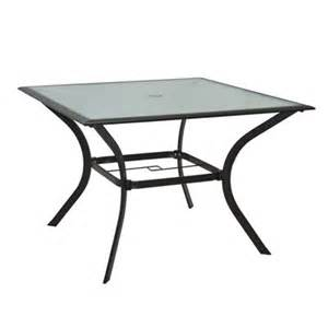 Glass Top Patio Dining Table Garden Treasures Eastmoreland 40 In Square Glass Top Patio Dining Table Lowe S Canada