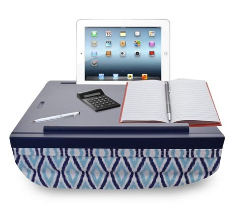 portable lap desk with storage icozy portable cushion lap desk with storage