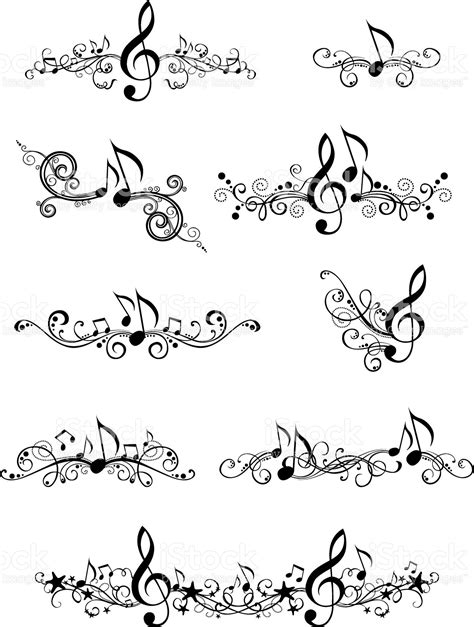 celtic music tattoo designs ornate elements and page decorations for your design