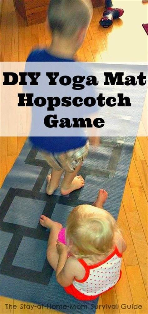 diy indoor games indoor gross motor activity yoga mat diy hopscotch game
