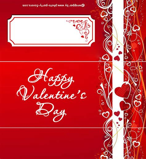 classic red valentine s day candy bar wrapper free