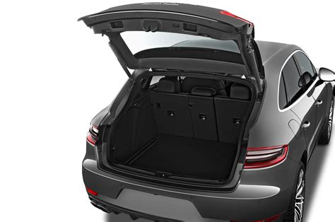 porsche trunk 2017 porsche macan adds 252 hp turbo four base model