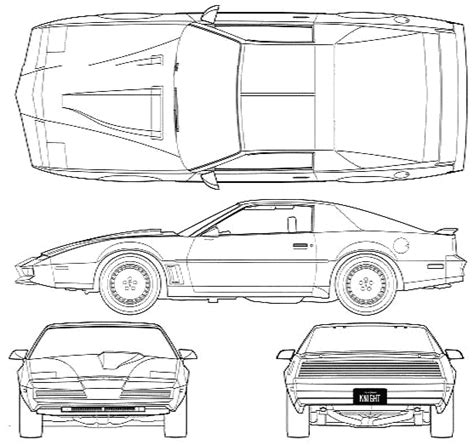 coloring pages knight rider 1982 pontiac firebird knight rider kitt coupe blueprints