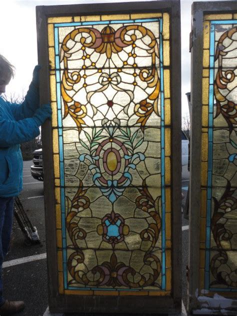 Antique Stained Glass Windows Doors For Sale In Stained Glass Door For Sale