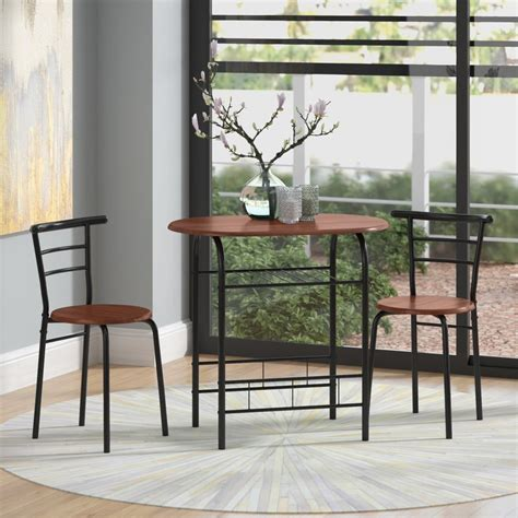 volmer  piece compact dining set small dining set