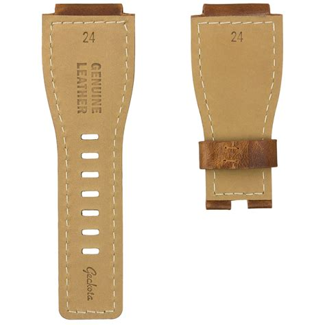 Bellross Br03 94 Black White Brown Leather geckota 174 leather for bell ross br 01 or br