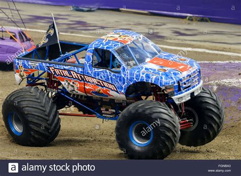 monster truck jam new orleans new orleans la usa 20th feb 2016 fatal attraction