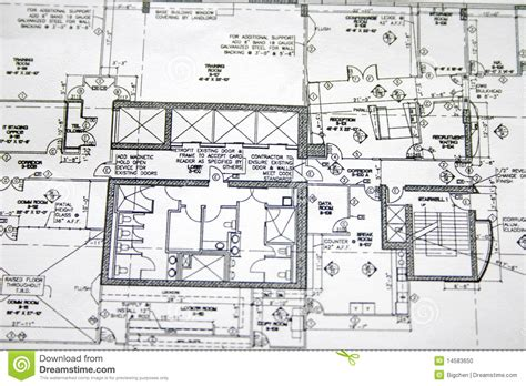 plan drawings floor plan drawing stock photo image 14583650
