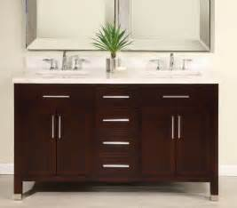 60 inch double sink modern dark cherry bathroom vanity with choice of