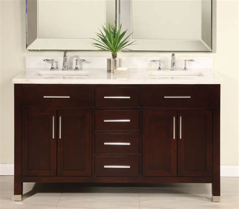 double sink modern dark cherry bathroom vanity  choice  counter top uveimo