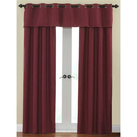 waverly curtains at lowes shop waverly cirrus 84 in l solid garnet rod pocket window