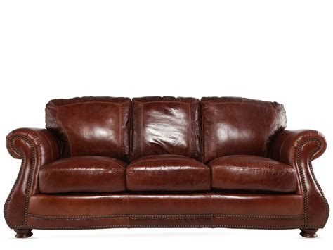 usa leather brandy sofa mathis brothers furniture