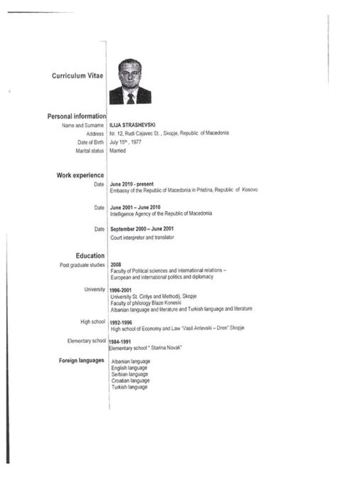 format cv europass shqip curriculum vitae curriculum vitae ne shqip