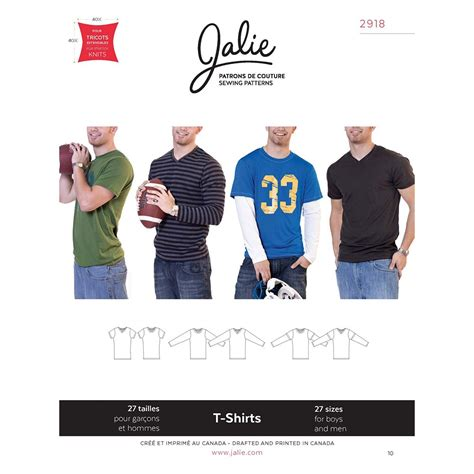 jalie t shirt pattern boys and mens t shirts jalie sewing pattern 2918 sew