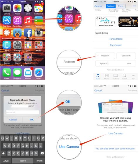 Redeeming Itunes Gift Card On Ipad - how to redeem gift cards and app promo codes straight from your iphone and ipad imore