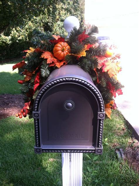 mailbox decorations for fall mailbox swag for fall mailbox decorating ideas