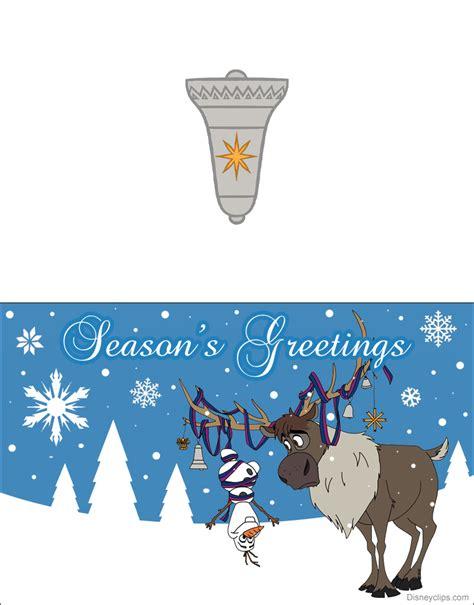 printable frozen christmas cards disneyclipscom