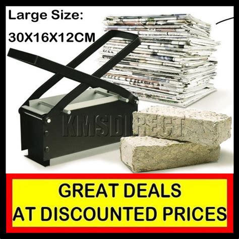 Paper Brick Machine - large paper log briquette maker recycle brick block ebay