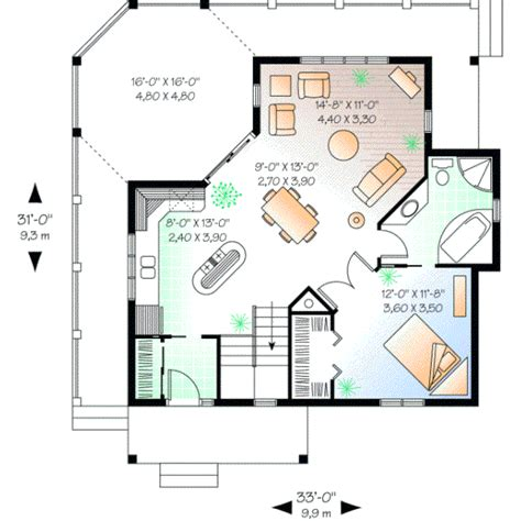 one bedroom home plans style house plans 840 square home 1