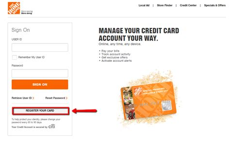 home depot credit card login make a payment creditspot