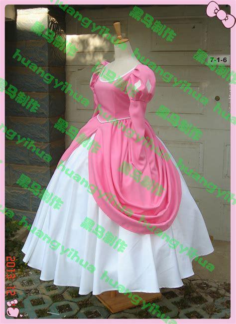 mermaid princess flowery get cheap ariel pink dress aliexpress