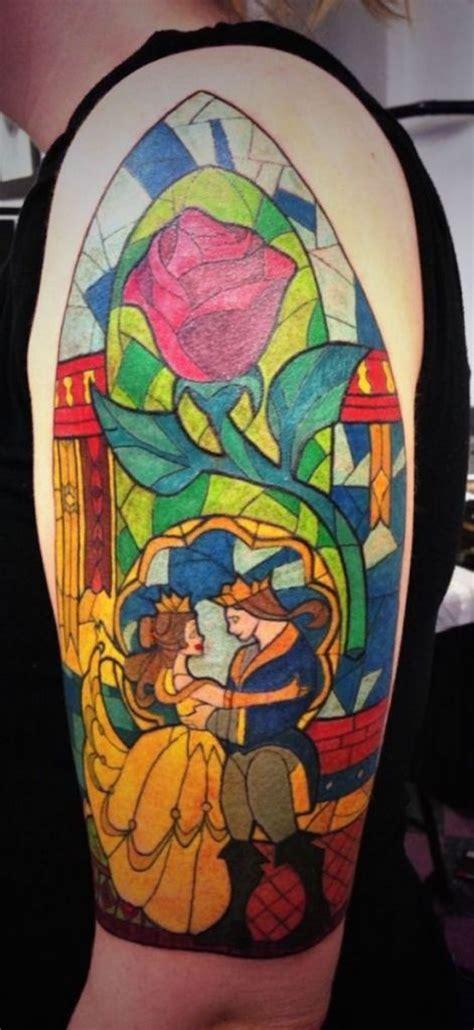 beauty and the beast tattoos 138 amazing disney tattoos photos