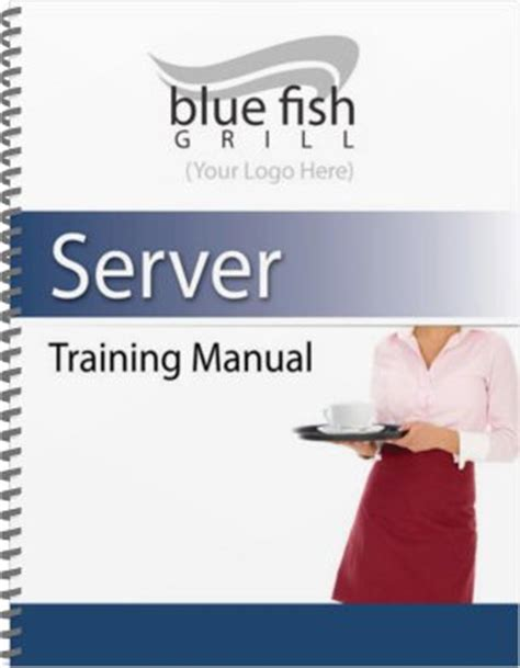 manual cover template restaurant manual templates