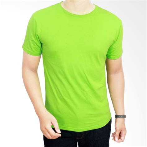 jual gudang fashion kaos polos pol 11 o neck pendek cotton