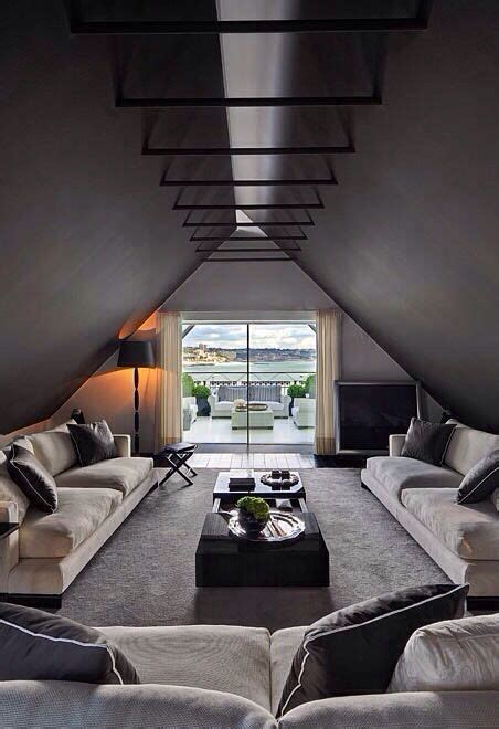 Rooms With Black Ceilings by 26 Stylish Attic Living Rooms Decor Ideas Shelterness