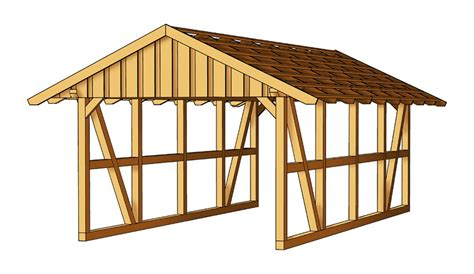 Carport Roof Trusses carport new with pitched roof truss sams garden shed store