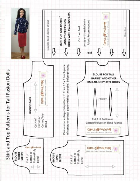 shirt pattern list tallbarbie skirt and top is 11 on my top 15 free sewing