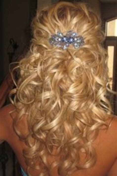 Formal Hairstyles Half Up Half Down Curls | half up half down prom hairstyles beautiful hairstyles