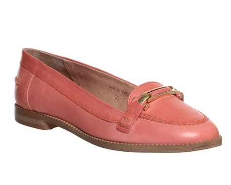 Maharani Loafer Flats Dir Co office loafers coral leather flats