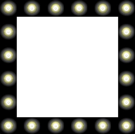 mirror with light border showbiz make up mirror style frame clipart free