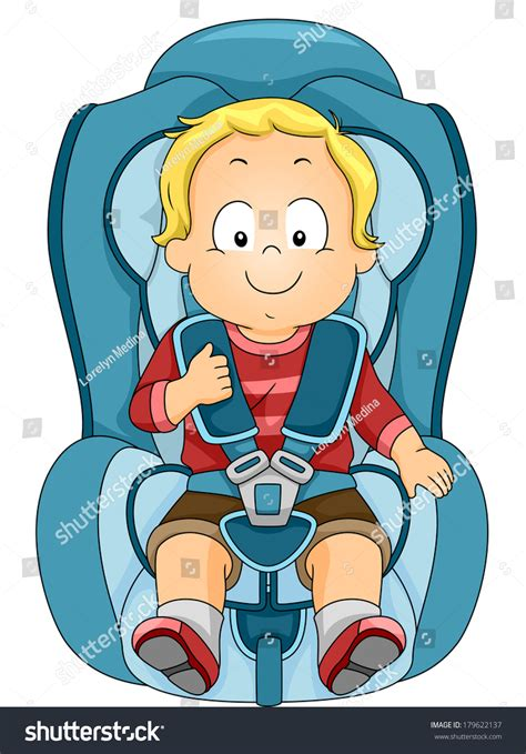 free toddler car seats illustration toddler strapped car seat stock vector