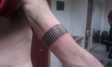 greek key tattoo 20 armband tattoos for tattoofanblog