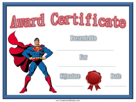 Children's Certificates   free and customizable