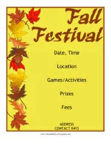 Fall Festival Flyer Templates Free by Fall Festival Flyer