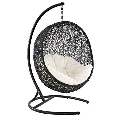 wicker chair swing com lexmod cocoon wicker rattan outdoor wicker