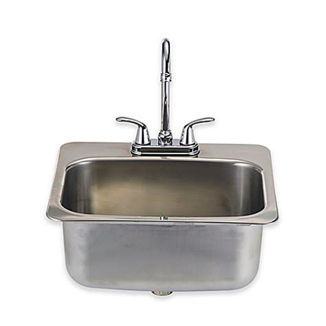 buy plastic kitchen sinks from bed bath beyond buy bull 174 standard sink with faucet in stainless steel