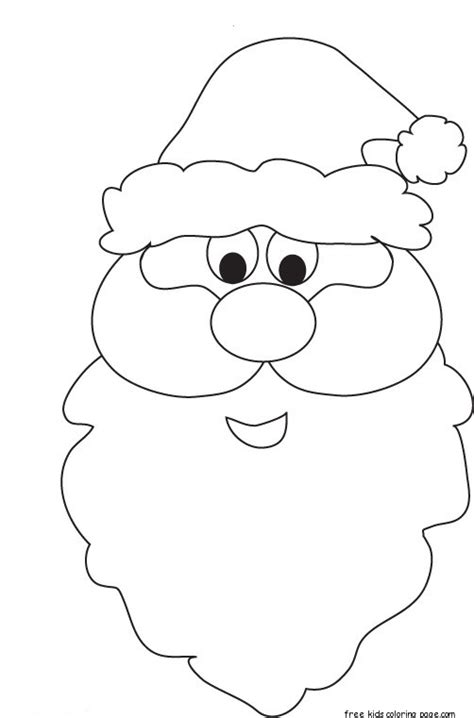 printable santa face coloring pages  kidsfree printable
