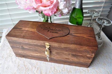 Wedding Gift Box With Lock by Custom Wooden Wine Box Personalized Wedding Wine Box