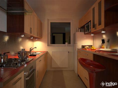 at the kitchen kitchen night indigo renderer