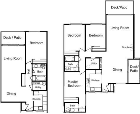 3 bedroom unit floor plans la villa apartments lynden wa floor plans