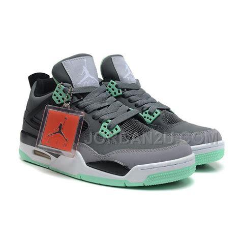 Air 4 Green Glow air 4 retro grey green glow cement grey black